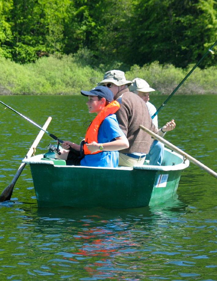 La pêche dans les tresses